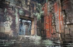 Apsara dancers, bas-relief of angkor, cambodia Stock Photos