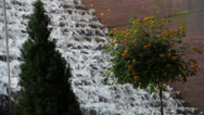 Stock Video Footage of Waterfall Fountain With Trees At The National Mall  Washingtong DC
