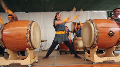 Obon Festival Taiko Stock Footage