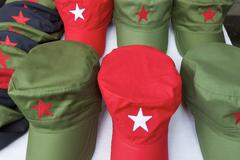 hats of the cuban revolution - stock photo