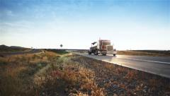 Truck Driving - stock footage