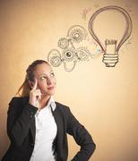 idea of a businesswoman - stock photo