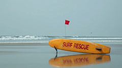 Surf rescue on beach. Indian ocean. Lifesaver. - stock footage