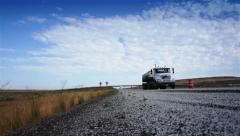 Trucks on road - stock footage