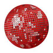 Red disco ball Stock Illustration