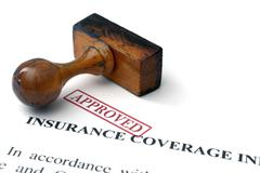Insurance coverage - approved Stock Photos