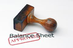 Balance sheet - approved Stock Photos