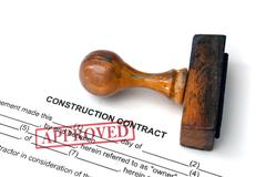 Construction contract - approved Stock Photos