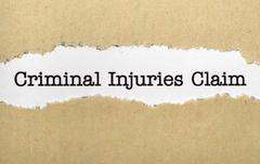Criminal injuries claim Stock Photos