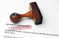 divorce agreement - approved - stock photo