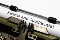 private and confidential - stock photo