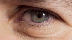 Man's eye close up - stock footage
