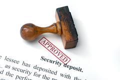 Security deposit  - approved Stock Photos