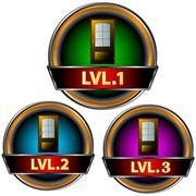 Levels set - stock illustration