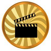 Movie logo - stock illustration