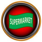 Supermarket icon - stock illustration