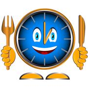 Stock Illustration of Time to have dinner