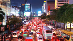 Central Bangkok at Central World. Stock Footage