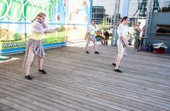 Stock Photo of girls dance on the holiday of ivan kupala