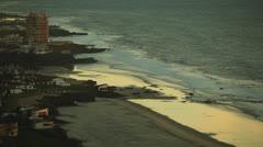 Wide Shot of Beach Resorts Tijuana Mexico HD Video Stock Footage