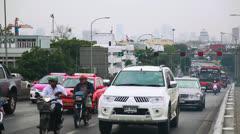 Bangkok road  trafic Stock Footage
