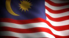 Flag of Malaysia Stock Footage