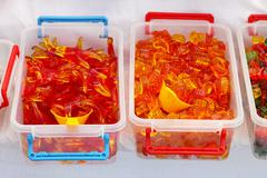 gummy worms - stock photo