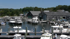 Crosby Boat Yard Osterville, MA Stock Footage