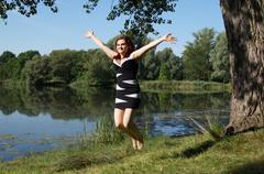 Jump for joy Stock Photos