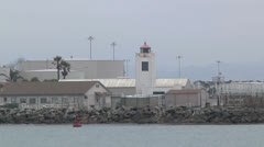 Port Hueneme Lighthouse Time Lapse Naval Base Ventura Stock Footage