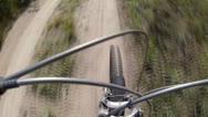 Riding a mountain bike Stock Footage
