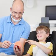 Dental care prevention Stock Photos