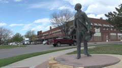 Kansas Dodge City Wyatt Earp  Stock Footage
