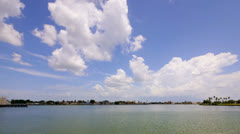 Blue skies over the bay Stock Footage