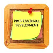Stock Illustration of Professional Development. Sticker on Bulletin.