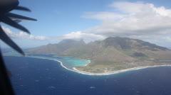 Moorea Island Aerial - stock footage