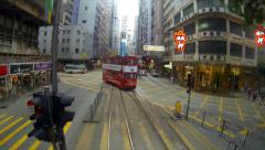 Time lapse Tram At Wan Chai, HongKong Island - stock footage