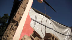 Earthquake Haiti rubble pull out Stock Footage