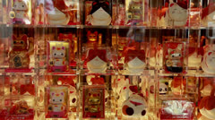 Japanese  lucky cat Stock Footage