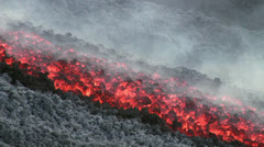 Etna Lava flow - stock footage