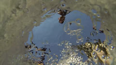 Well filling bucket underwater slow motion - stock footage