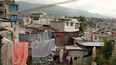 Port au Prince pan Stock Footage