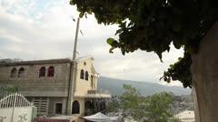 Port au Prince street tilt shot Stock Footage