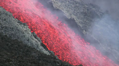 Etna Lava flow Stock Footage