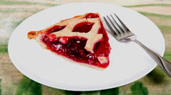 Cherry Pie Stock Footage