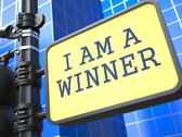 Stock Illustration of I am a Winner - Roadsign.