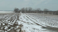 Stock Video Footage of Minnesota spring snow in fields p.