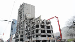 Earthquake Damage Demolition Stock Footage