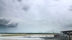 Airport thunderstorm time lapse Stock Footage