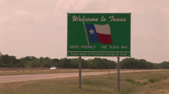 Texas Welcome sign Stock Footage